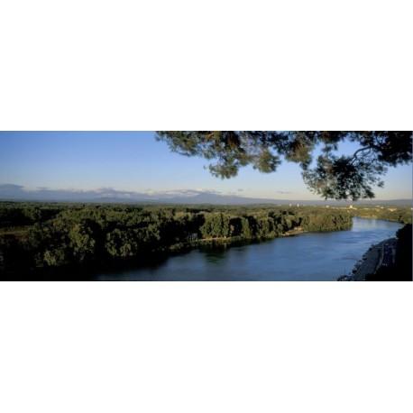 Panoramique du Rhône en Avignon